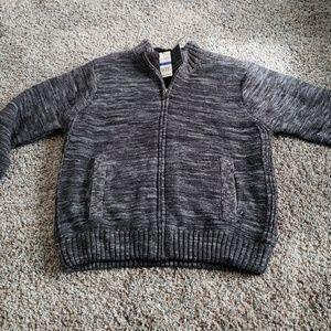 Tricot St. Raphael Men's Full Zip Charcoal Jacket